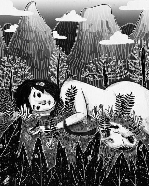 ilustracion soledad sanar mujer amor propio